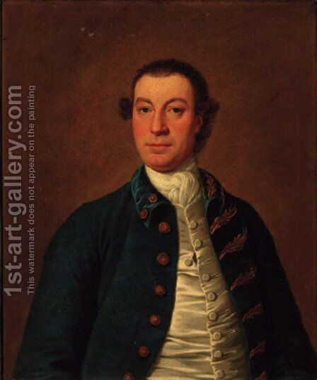 Portrait of a gentleman by (after) Thomas Pope-Stevens - Reproduction Oil Painting