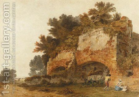 Ruins at Hangham, near Handcross, Sussex by (after) Tobias Young - Reproduction Oil Painting