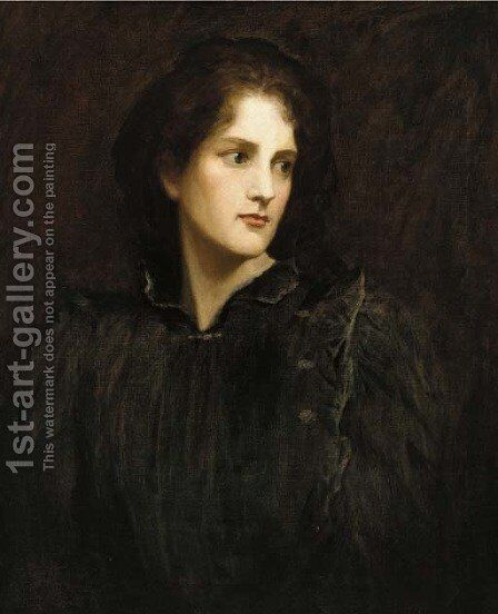 Portrait of a lady by (after) Valentine Cameron Prinsep - Reproduction Oil Painting
