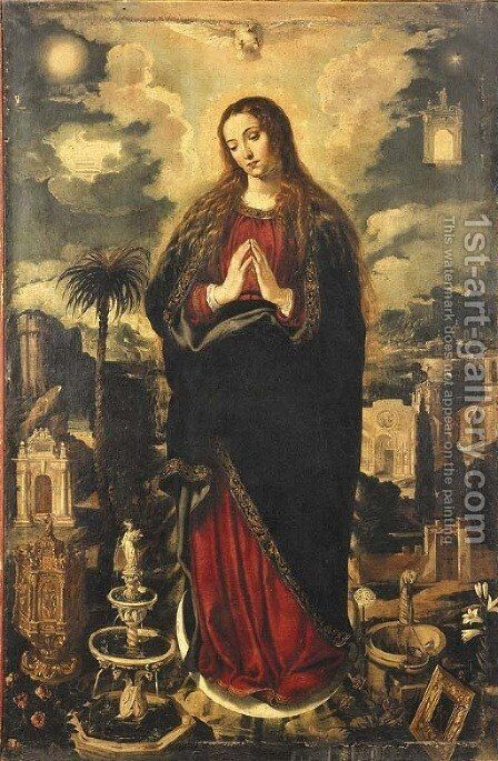 The Immaculate Conception by (after) Vicencio Carducho - Reproduction Oil Painting