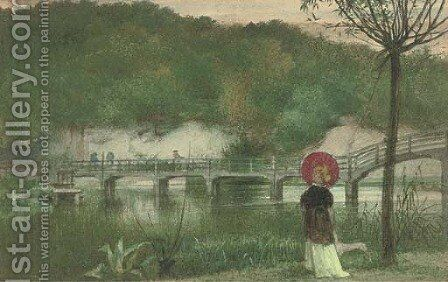The red parasol by (after) Walter Crane - Reproduction Oil Painting