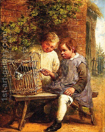 Feeding Time by (after) William Bromley - Reproduction Oil Painting