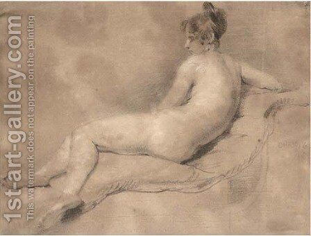Reclining female nude by (after) William Etty - Reproduction Oil Painting