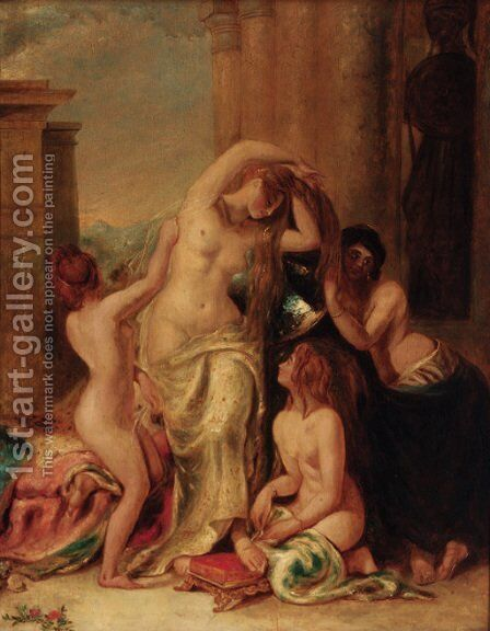 The Toilet of Venus by (after) William Etty - Reproduction Oil Painting