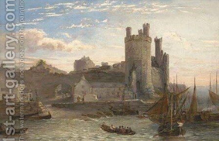 Caernarvon Castle, Wales by (after) William Henry Vernon - Reproduction Oil Painting