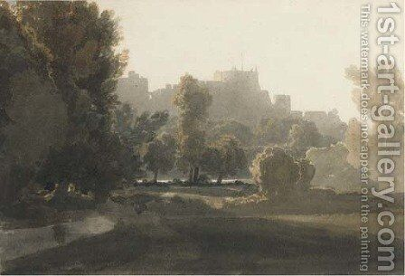 A view of Windsor Castle by (after) William Havell - Reproduction Oil Painting