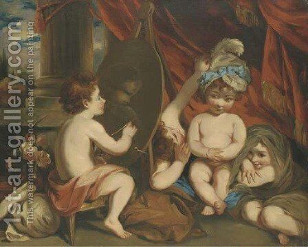 Infant Academy, after Sir Joshua Reynolds by (after) William Hilton - Reproduction Oil Painting