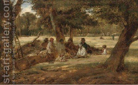 Harvest lunch by (after) William James Muller - Reproduction Oil Painting