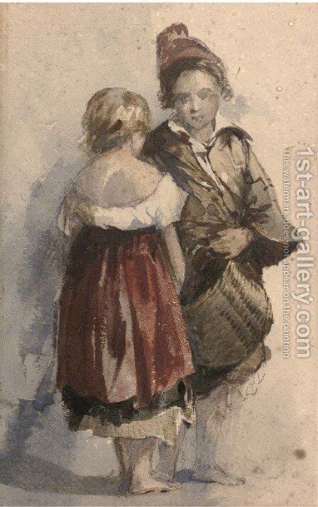 Street urchins by (after) William James Muller - Reproduction Oil Painting