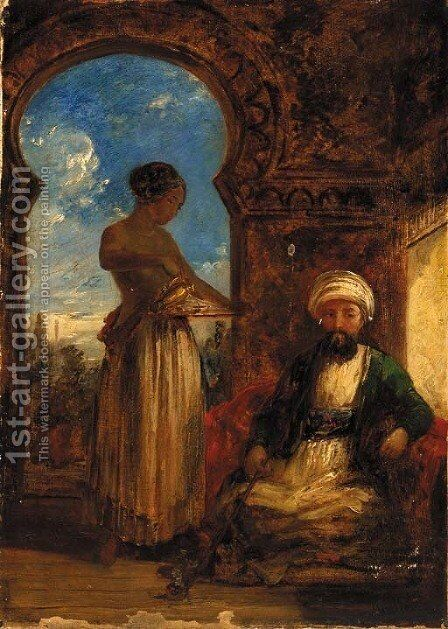 In the hareem by (after) William James Muller - Reproduction Oil Painting