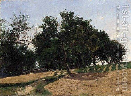 Summer Landscape by (after) William Lamb Picknell - Reproduction Oil Painting