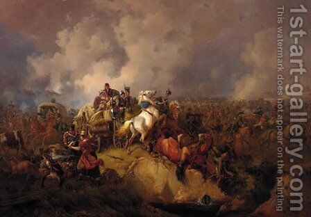 A military encampment by August Franz Schelver - Reproduction Oil Painting