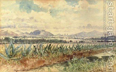 Volcan y magueyes by August Lohr - Reproduction Oil Painting
