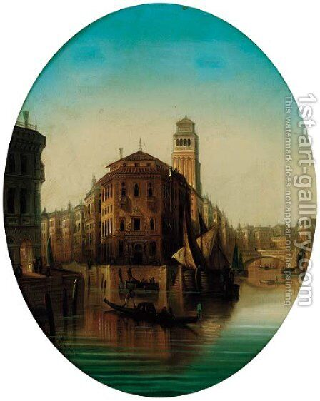 The Grand Canal, Venice by August von Siegen - Reproduction Oil Painting