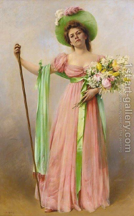 Attendant la maree by August Wilhelm Nikolaus Hagborg - Reproduction Oil Painting