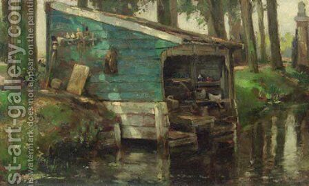 The wash-house by August Willem van Voorden - Reproduction Oil Painting