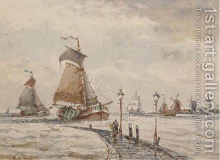 Returning to port by Auguste Henri Musin - Reproduction Oil Painting