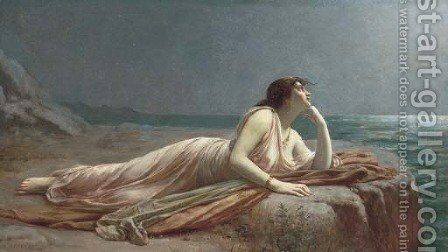 Awaiting his return by Auguste Raynaud - Reproduction Oil Painting