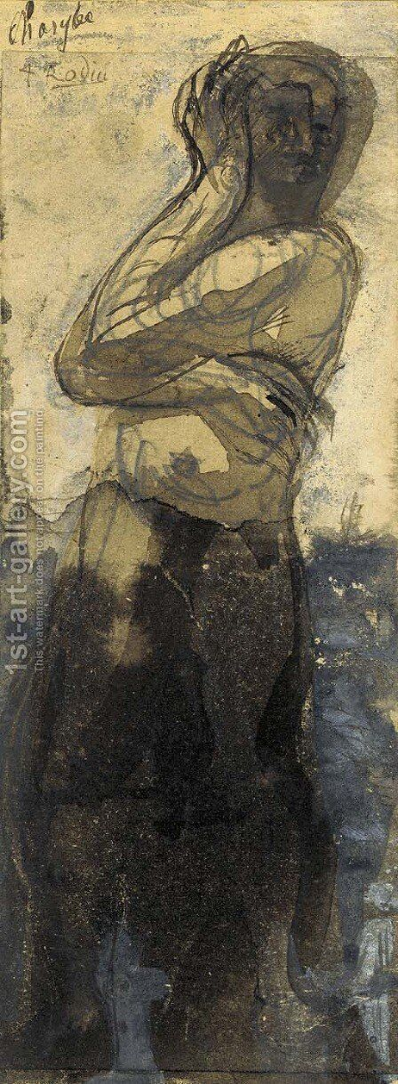 Charybe by Auguste Rodin - Reproduction Oil Painting