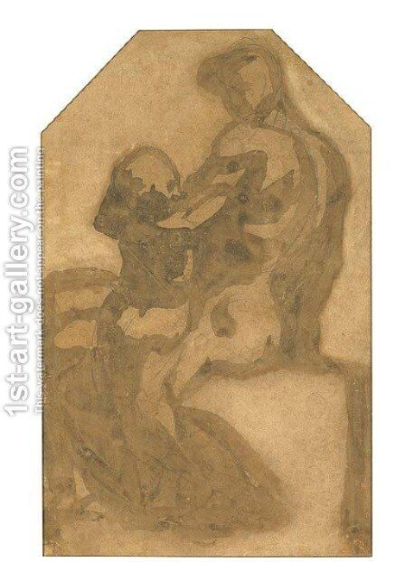 L'Enfermement d'Ugolin by Auguste Rodin - Reproduction Oil Painting