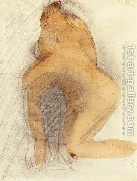 Les amants by Auguste Rodin - Reproduction Oil Painting