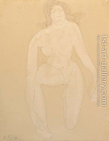 Modele nu by Auguste Rodin - Reproduction Oil Painting