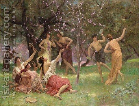 The celebration of spring by Auguste Alexandre Hirsch - Reproduction Oil Painting