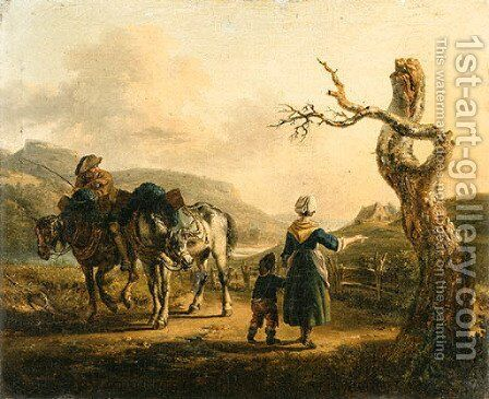 Untitled 2 by Auguste-Xavier Leprince - Reproduction Oil Painting