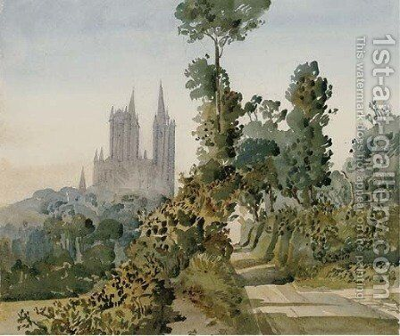 At Coutances, Manche by Augustus John Cuthbert Hare - Reproduction Oil Painting