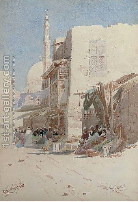 A bit of old Cairo by Augustus Osborne Lamplough - Reproduction Oil Painting