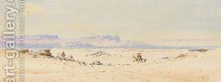 In the Desert by Augustus Osborne Lamplough - Reproduction Oil Painting