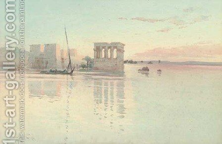 Philae, Egypt by Augustus Osborne Lamplough - Reproduction Oil Painting