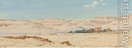 The Ramaseum, Thebes by Augustus Osborne Lamplough - Reproduction Oil Painting