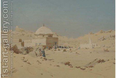 The sheik's tomb by Augustus Osborne Lamplough - Reproduction Oil Painting