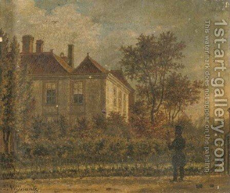 Admiring the estate by Augustus Wijnantz - Reproduction Oil Painting