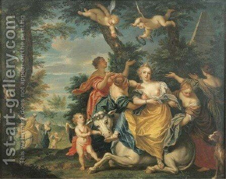 The Rape of Europa by Balthazar Beschey - Reproduction Oil Painting