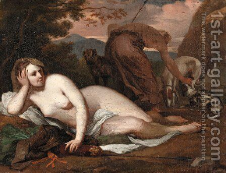 Diana the Huntress in a landscape by Barent Graat - Reproduction Oil Painting