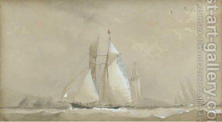Boadicea off the Needles by Barlow Moore - Reproduction Oil Painting