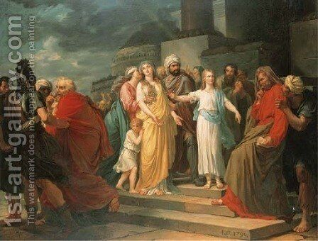 Daniel Proving Susanna's Innocence by Baron Francois Gerard - Reproduction Oil Painting