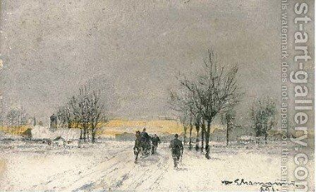 The outskirts of Vienna by Baron Theodor Frieherr Von Ehrmanns - Reproduction Oil Painting