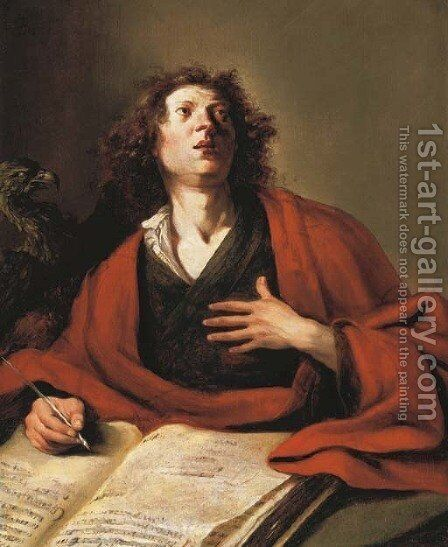 Saint John the Evangelist by Bartholomeus Breenbergh - Reproduction Oil Painting