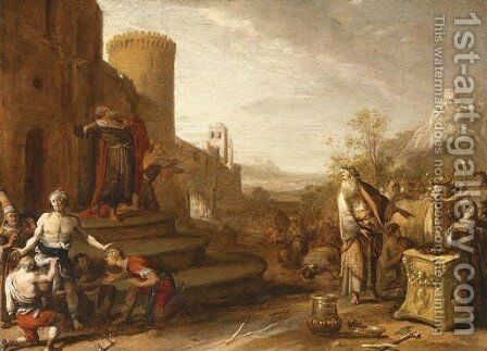 Saint Paul and Saint Barnabus at Lystra by Bartholomeus Breenbergh - Reproduction Oil Painting