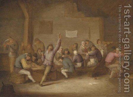 Peasants making merry in a tavern by Bartholomeus Molenaer - Reproduction Oil Painting