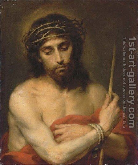 Christ the Man of Sorrows by Bartolome Esteban Murillo - Reproduction Oil Painting