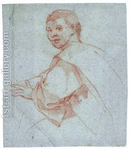Study of a young man by Bartolomeo Cesi - Reproduction Oil Painting