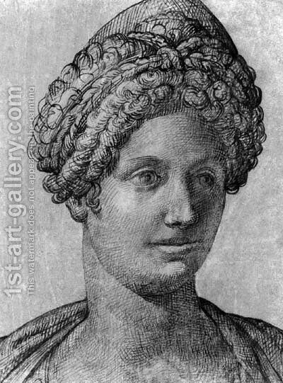 Head of a woman by Bartolomeo Passerotti - Reproduction Oil Painting
