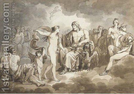 Zeus and Venus by Bartolomeo Pinelli - Reproduction Oil Painting