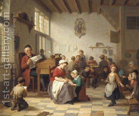 The Village School by Basile De Loose - Reproduction Oil Painting
