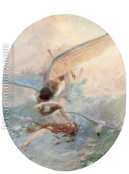 The greeting of the wind and waves by Benes Knüpfer - Reproduction Oil Painting