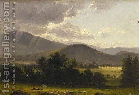 Summer Showers by Benjamin Champney - Reproduction Oil Painting